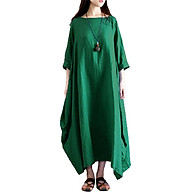 Đầm Maxi Dài Trơn Cổ Tròn Nửa Vai Phong Cách Vintage thumbnail