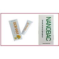 [BỘ SẢN PHẨM] Gel bôi NANOBAC tuýp 20g làm sạch, tái tạo da, ngăn ngừa sẹo & Kem BOIHAM tuýp 10g giúp giảm hăm, bảo vệ làn da bé yêu của bạn ( hàng chính hãng) thumbnail
