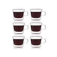 Bộ 6 tách trà thủy tinh 2 lớp Samaglas F010 6 180mL thumbnail
