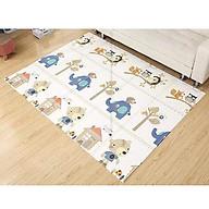 Thảm xốp 2 mặt gấp gọn cho bé chống trơn trượt, chống nước họa tiết Voi và Gấu thumbnail