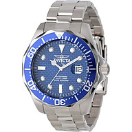 Invicta Men s 12563 Pro Diver Blue Carbon Fiber Dial Stainless Steel Watch thumbnail