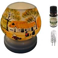 Combo tinh dầu sả chanh Eco oil 10ml cùng đèn xông tinh dầu tam giác TG07 thumbnail