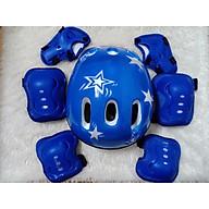 Bộ bảo hộ trượt patin màu xanh thumbnail