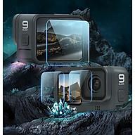 Bộ 4 miếng dán cường lực cho Gopro 9 Telesin (Hàng chính hãng) - Kính cường lực 9H cho máy quay hành trình thumbnail