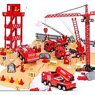 Bộ đồ chơi mô hình xe cứu hỏa DLX cho bé phát triển tư duy và trí tưởng tượng chất liệu nhựa ABS chống cháy có hộp đựng (hàng nhập khẩu) thumbnail