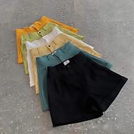 quần short nữ lưng cao lật gấu vải mềm mại đẹp như hình thumbnail