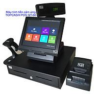 Trọn bộ máy tính tiền cảm ứng 12 in TOPCASH POS QT-66 với phần mềm bán hàng vĩnh viễn kèm máy in hóa đơn kèm máy quét mã vạch và két đựng tiền với màn hình khách xuay đa hướng - Hàng chính hãng thumbnail