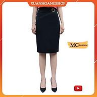 Chân Váy Bút Chì Mc Fashion Đẹp Dáng Nữ Công Sở Dài Qua Gối, Màu Xanh Đen Tím Than Cao Cấp Cv0371 thumbnail
