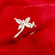 Nhẫn nữ Hồ Điệp cánh bướm gắn đá màu trắng phong cách cá tính 100% chất liệu bạc thật không xi mạ trăng sức Bạc Quang Thản - QTBT74 thumbnail