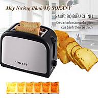 Máy nướng bánh mỳ sandwich, lò nướng bánh mì SOKANY HJT 008s , 800W - Hàng chính hãng thumbnail