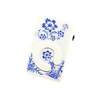 Máy nghe nhạc mp3 chữ C họa tiết hình cành hoa tặng tai nghe và dây sạc thumbnail
