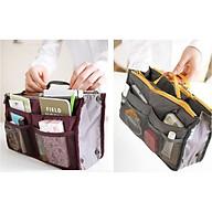 Bộ 2 giỏ vải đựng đồ đa năng, tiện dụng nhiều ngăn, có dây kéo, tặng kèm dây cột tóc, giao màu ngẫu nhiên- Giỏ đựng đồ cá nhân, túi du lịch có quai xách, size 28 10 17cm-Túi đựng vật dụng cá nhân du lịch tiện lợi nhiều ngăn - Túi đựng đồ đi du lịch - Túi chứa đồ cá nhân tiện lợi thumbnail