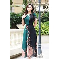 Váy đầm trung niên LYBEE chất voan hàn dáng xòe trung tuổi cho mẹ mã 609 thumbnail
