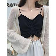 Áo 2 dây rút eo có thể sơ vin mặc trong áo vest, áo cadigan, kết hợp được nhiều kiểu trang phục thumbnail