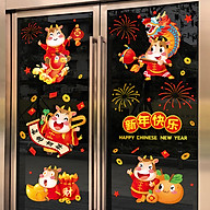 Decal trang trí Tết Tân Sửu- Trâu vàng bên hũ tiền- mã sp QR209121 thumbnail