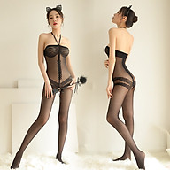 Đồ Ngủ Hai Dây Lưới Mịn Xuyên Thấu Khoét Đáy Sexy Bodystocking Erotic Lingerie Nightwear Brave Man BCS21 36 thumbnail