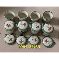 Set 8 cốc caramen chuồn khoai gốm sứ Bát Tràng thumbnail