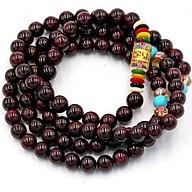 Chuỗi hạt đeo tay 108 hạt ngọc hồng lụu 6 ly BBD4 - Tràng chuỗi niệm Phật thumbnail