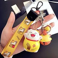 Móc khóa leng keng dây strap Vàng lucky Mèo thần tài may mắn - Vàng thumbnail