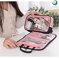Túi đựng mỹ phẩm đa năng chống nước, có quai xách tiện dụng 24x6x15cm+ Tặng kèm dây cột tóc, màu ngẫu nhiên thumbnail