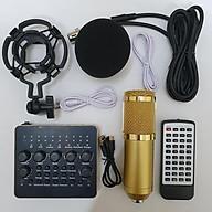 combo Bộ Míc Thu Âm Livestream Hát Karaoke Online Micro BM-900+ CARD V10 Bluetooth thumbnail