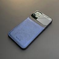 Ốp lưng da kính cao cấp dành cho iPhone 11 Pro Max - Màu xanh - Hàng nhập khẩu - DELICATE thumbnail