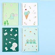 Sổ tay A5 nhiều hình dễ thương, sổ lò xo có dòng kẻ (21cm x 14cm) thumbnail