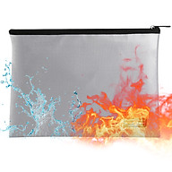 Fireproof Document Bag Fireproof and Waterproof File Folder Money Bag Safe Storage Pouch Holder Organizer with Zipper thumbnail