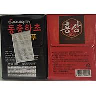 Combo nước hồng sâm và nước Đông trùng hạ thảo Hàn Quốc 20 chai x 100ml, nước hồng sâm, nước đông trùng hạ thảo thumbnail