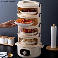 Lồng bàn giữ nhiệt hâm nóng thức ăn cao cấp - lồng bàn bảo vệ thức ăn thumbnail