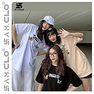 Áo thun nữ tay lỡ freesize phông form rộng dáng Unisex, mặc cặp, nhóm, lớp in hình BƯỚM COIN thumbnail