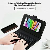 Bao da bàn phím cho điện thoại iPhone, máy tính bảng cao cấp Bluetooth thông minh thumbnail