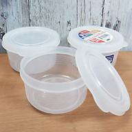 2 Bộ 3 hộp chứa thực phẩm kháng khuẩn, an toàn và tiện dụng - Hàng nội địa Nhật thumbnail