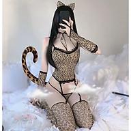 Đồ Cosplay nàng báo gợi cảm - Đồ ngủ sexy da beo nhiều chi tiết thumbnail