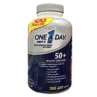 Vitamin tổng hợp One A Day Men s 50+ Multivitamin Healthy Advantage 300 viên Hàng Nhập Mỹ thumbnail