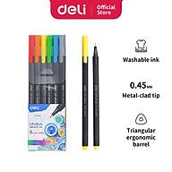 Bút đi nét Deli - Ngòi bọc kim loại 0.45mm - Mực có thể rửa được - EQ900 thumbnail