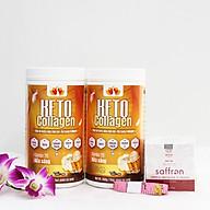 Liệu trình 2 hộp Keto Collagen 500g [Chính Hãng] - Bữa ăn Keto hỗ trợ GIẢM CÂN SIÊU TIỆN LỢI cho người thực hành Keto và người muốn giảm cân - Giảm 3-7Kg 1 tháng [Tặng 1 Mặt nạ Saffron sữa ong chúa và 1 Thước dây] thumbnail