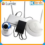 Ups cấp điện dự phòng ra 3 Điện Áp 5v-9v-12v chính hãng Klink. Cấp điện cho cả hệ thống internet nhà bạn camera 360, Wifi, Modem... thumbnail