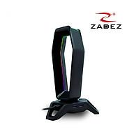 Giá treo tai nghe Gaming LED RGB Rainbow tích hợp Souncard 7.1 và 3 cổng USB 3.0 mã ZHS 702G Zadez tặng kèm miếng lót chuột da 26x21 cm - Hàng chính hãng thumbnail