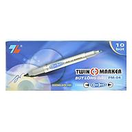 Hộp 10 cây bút dạ kính TL PM-04 xanh thumbnail