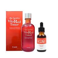 Combo Nước hoa hồng và Tinh chất phục hồi dưỡng trắng sáng da, mờ vết thâm Tiam (Toner 130ml + Serum 30ml) thumbnail