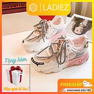 Giày Nữ Thể Thao Thời Trang Cao Cấp Ladiez Giày Sneaker Độn Đế Cao 5cm Mẫu Mới Cổ Thấp Mềm Êm Chân Xinh Xắn Siêu Đẹp thumbnail