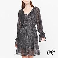 GIGI - Đầm mini cổ V tay dài Asymetric Draped G2105202164H-87 thumbnail