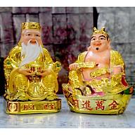 Bộ tượng hai ông Thần Tài-Thổ Địa xi vàng loại đẹp-Ba cỡ thumbnail