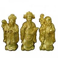Bộ tượng đá Phúc Lộc Thọ vàng cao 17cm PLTV17 thumbnail