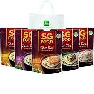 Combo cháo tươi Sài Gòn Food 5 vị (Thịt Bằm, Sườn Non, Lươn, Cá lóc, Cá Hồi) 240g có túi nhựa PE thumbnail