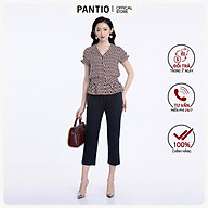 Áo sơ mi chất liệu cao cấp họa tiết đặc biệt bo eo FAS32732- PANTIO thumbnail