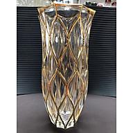 Lọ Hoa Thuỷ Tinh Viền Chỉ Vàng 30cm cao cấp - ANTH491 thumbnail