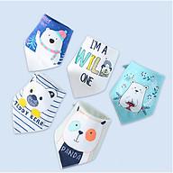Khăn Yếm Tam Giác Cho Bé Set Gấu Con 5 Yếm thumbnail