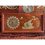 Tranh gỗ đồng hồ thuận buồm 81x41x3 thumbnail
